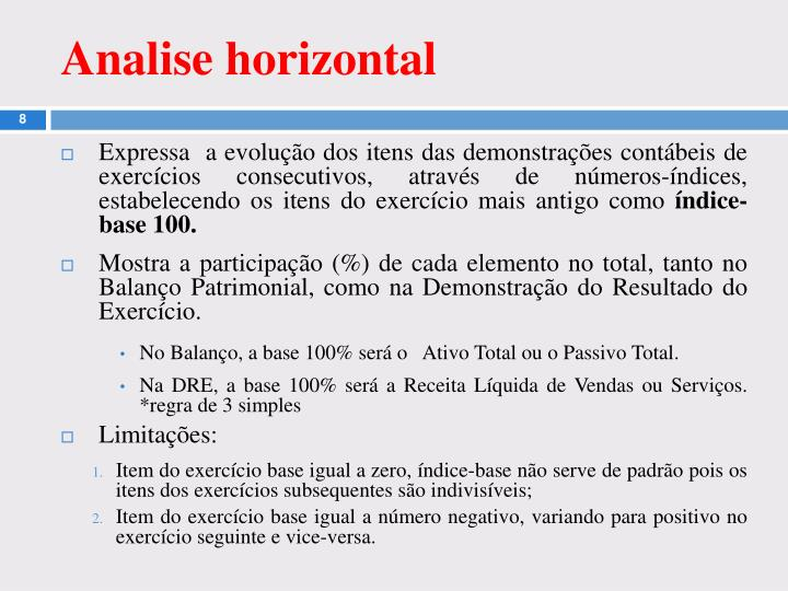Analise horizontal