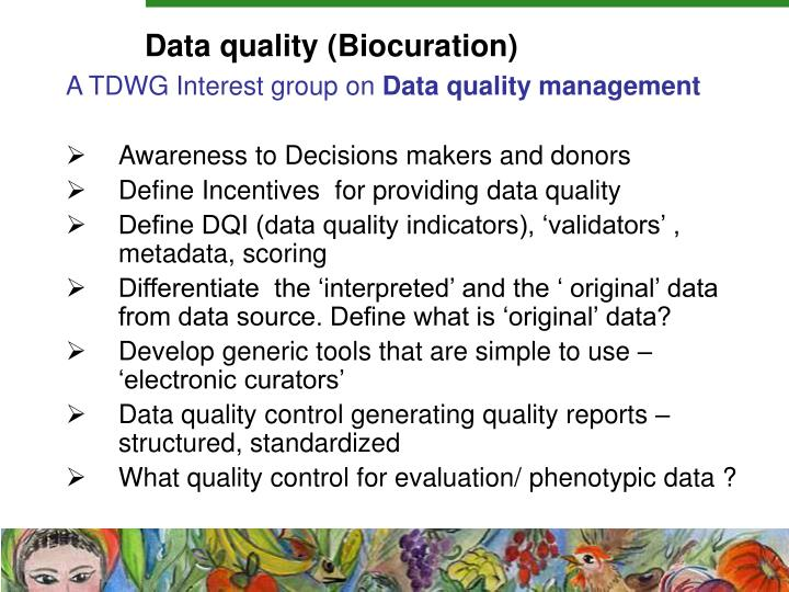 Data quality (Biocuration)