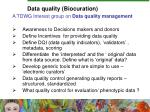 data quality biocuration