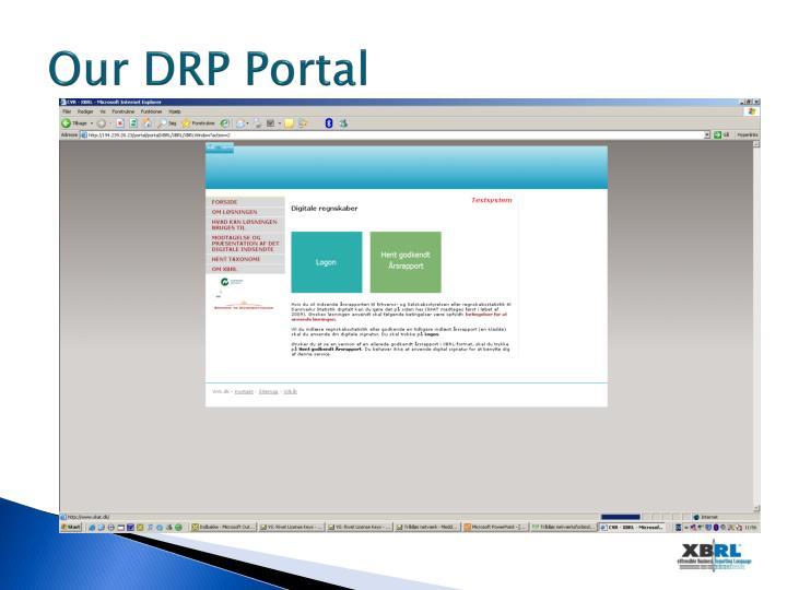 Our DRP Portal