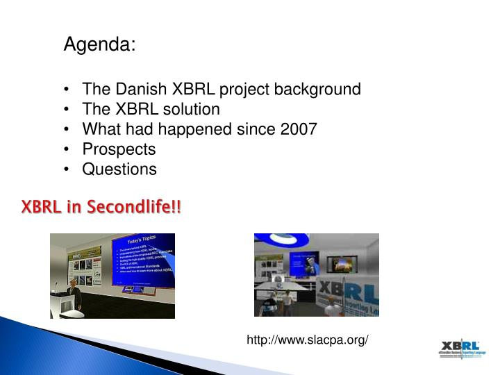 Xbrl in secondlife