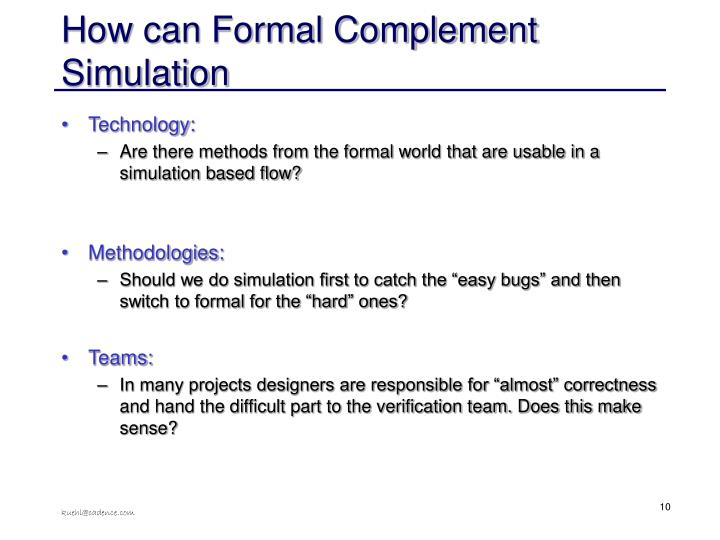 How can Formal Complement Simulation