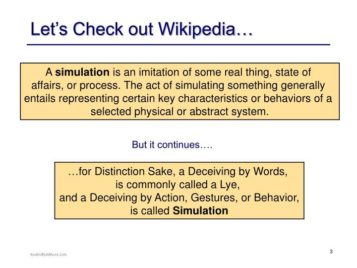 Let's Check out Wikipedia…