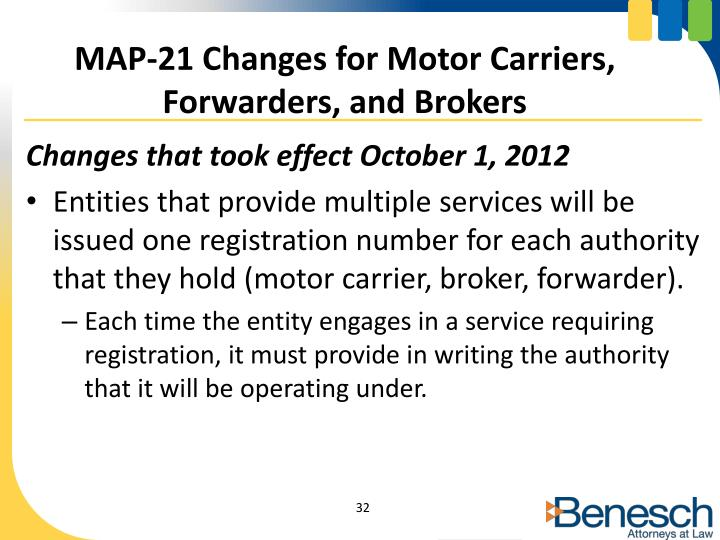 MAP-21 Changes for Motor Carriers,