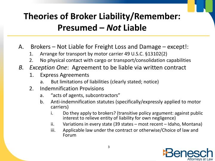 Theories of Broker Liability/Remember: