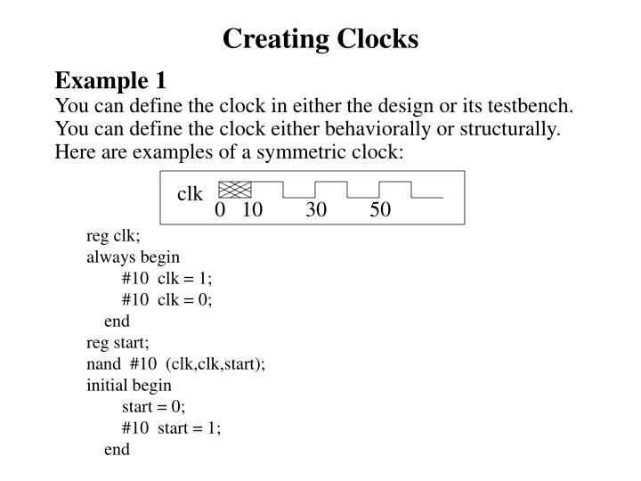 Creating Clocks