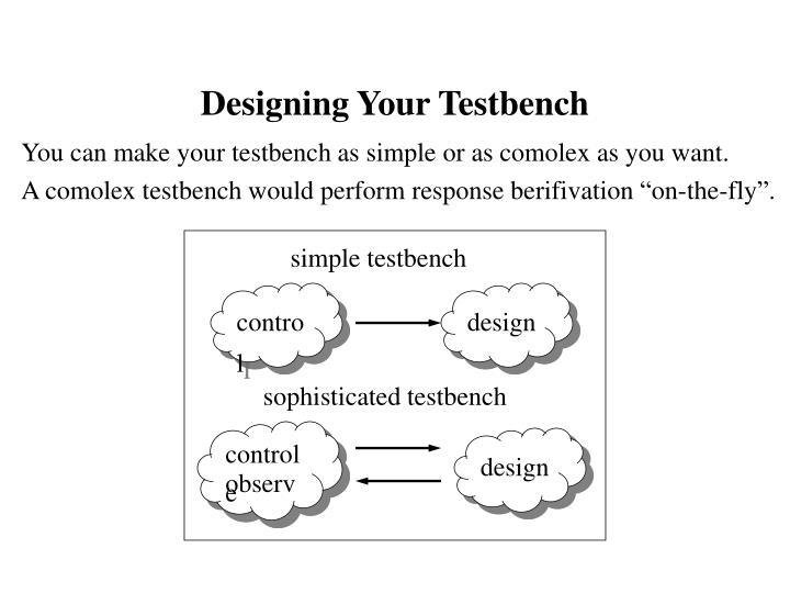 Designing Your Testbench