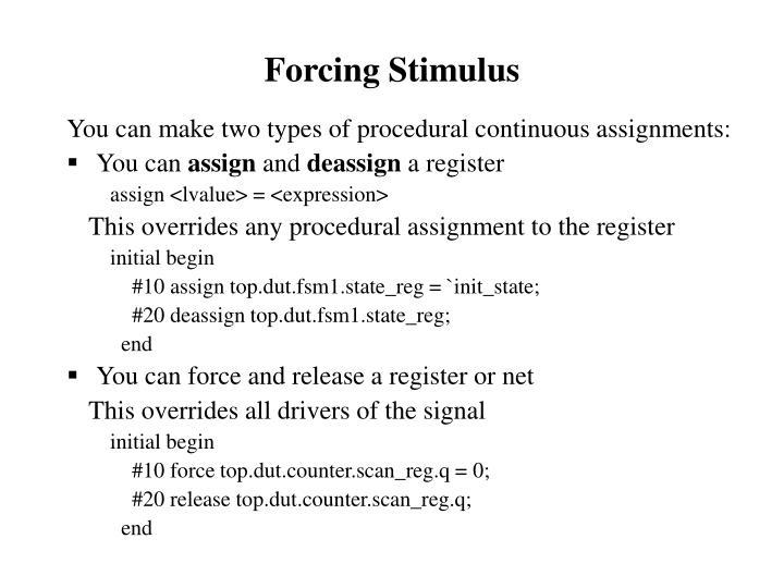 Forcing Stimulus