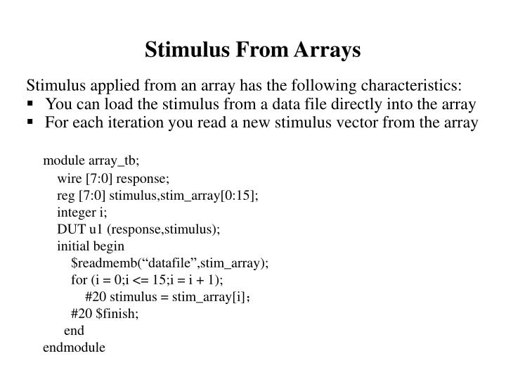 Stimulus From Arrays
