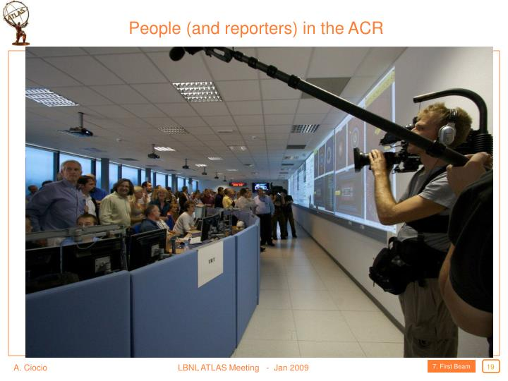People (and reporters) in the ACR