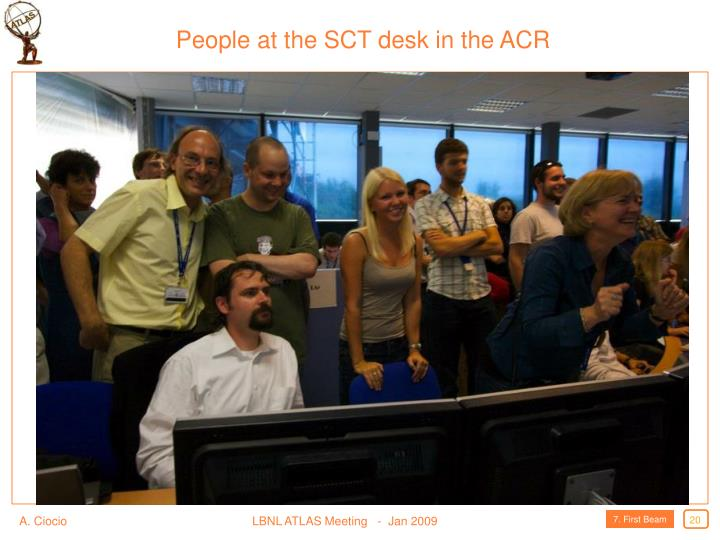 People at the SCT desk in the ACR
