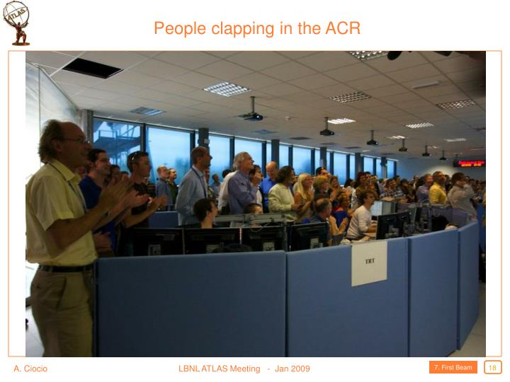 People clapping in the ACR