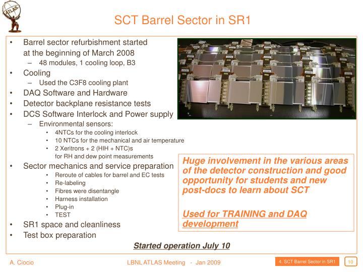 SCT Barrel Sector in SR1