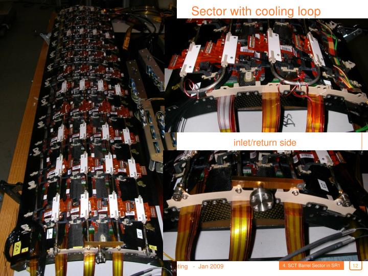 Sector with cooling loop