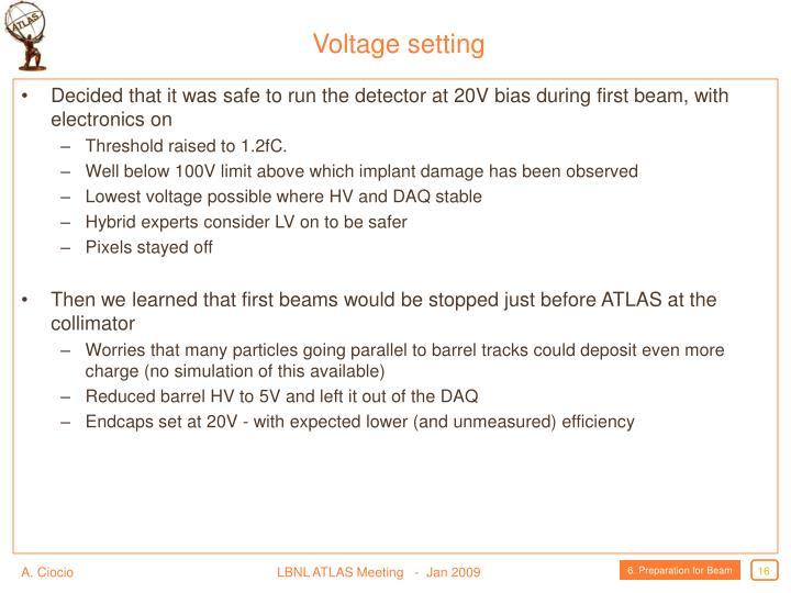 Voltage setting