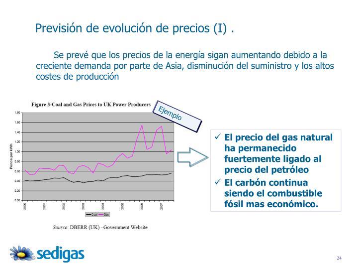 Se prevé que los precios de la energía sigan aumentando debido a la creciente demanda por parte de Asia, disminución del suministro y los altos costes de producción