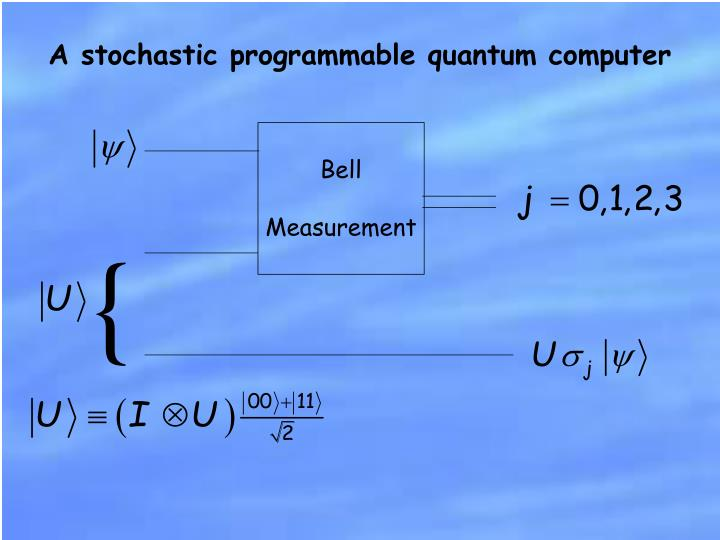 A stochastic programmable quantum computer