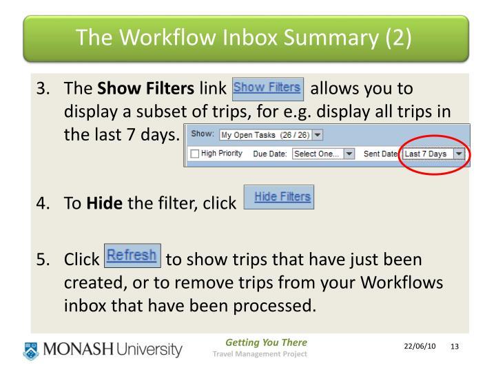 The Workflow Inbox Summary (2)