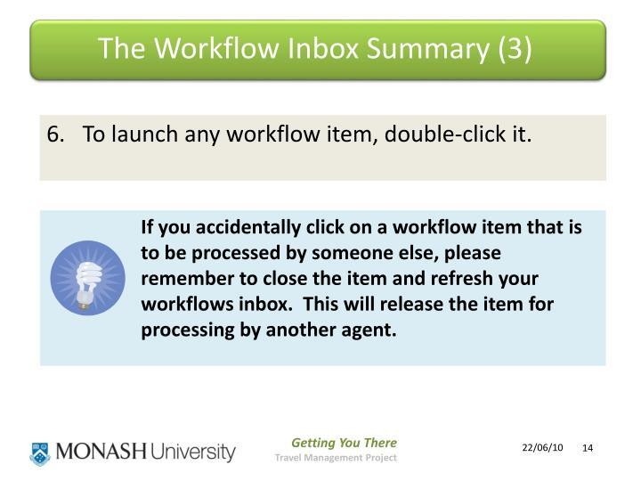 The Workflow Inbox Summary (3)