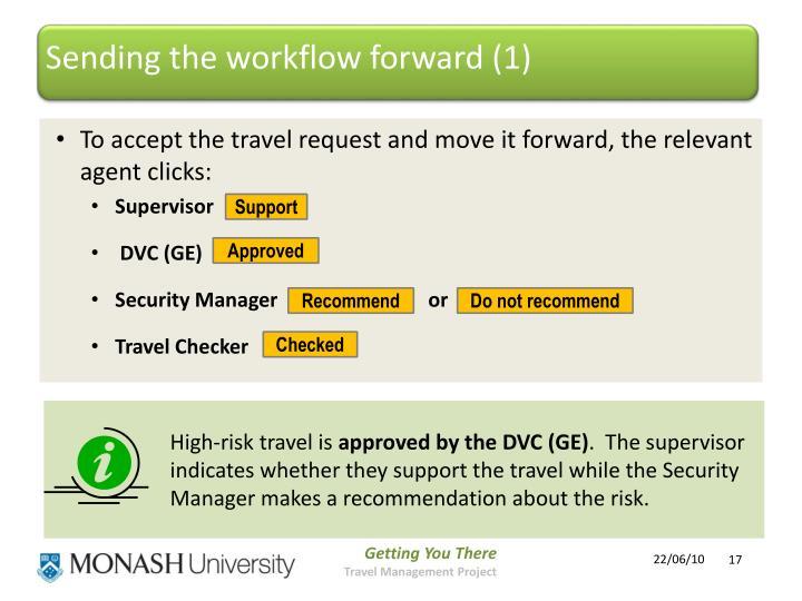 Sending the workflow forward (1)