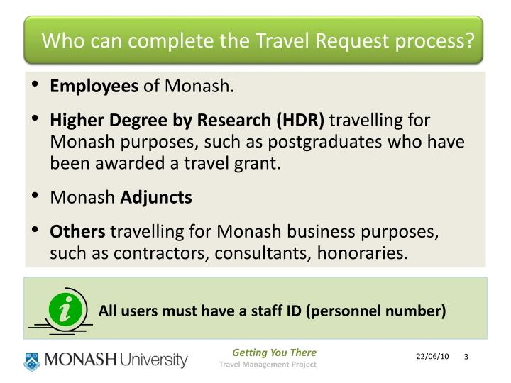 Who can complete the Travel Request process?