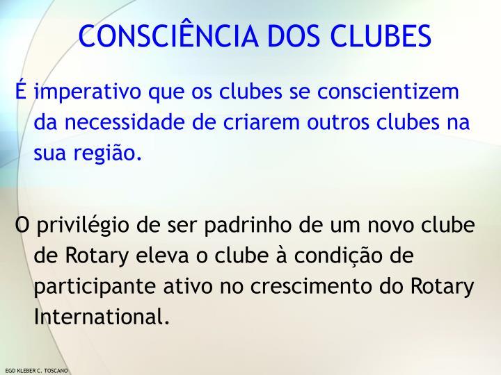 CONSCIÊNCIA DOS CLUBES