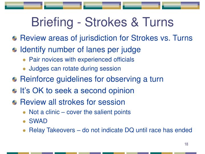 Briefing - Strokes & Turns