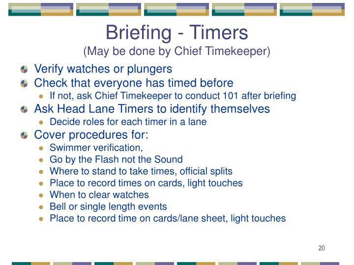 Briefing - Timers