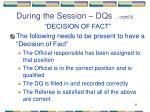during the session dqs cont d