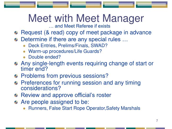 Meet with Meet Manager