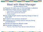 meet with meet manager