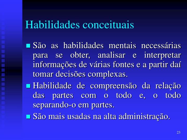 Habilidades conceituais
