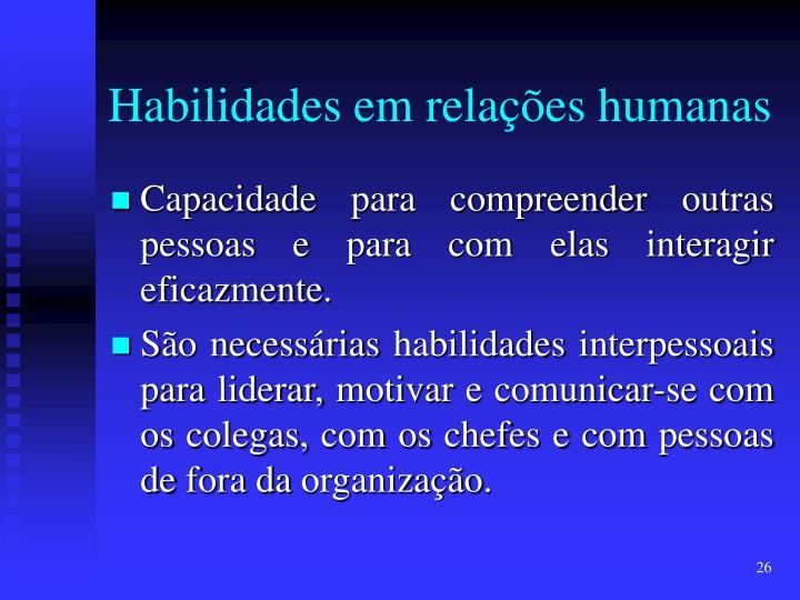Habilidades em relações humanas