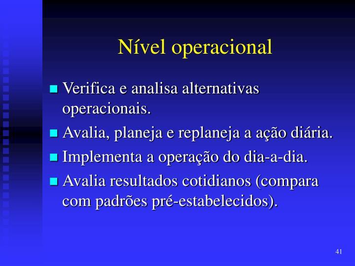 Nível operacional