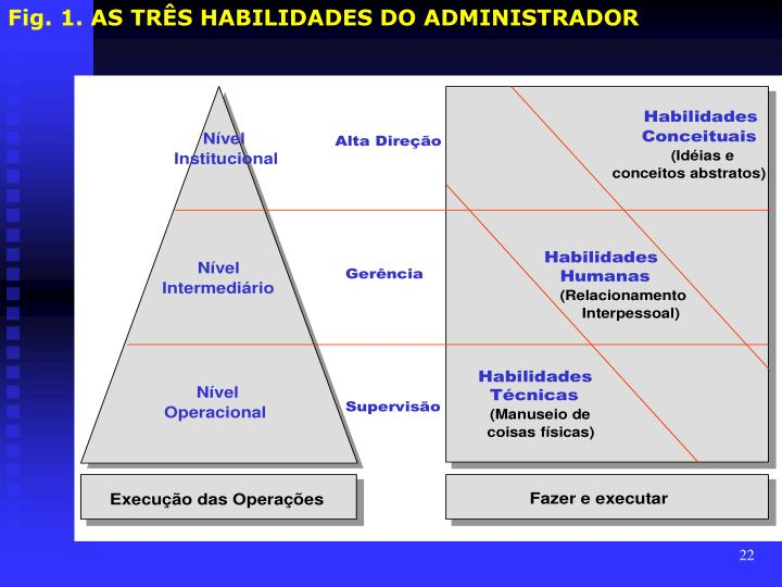 Fig. 1. AS TRÊS HABILIDADES DO ADMINISTRADOR
