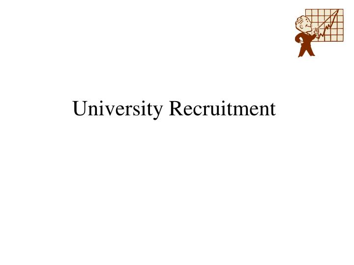 University recruitment