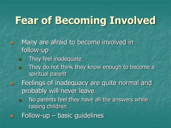 Fear of Becoming Involved
