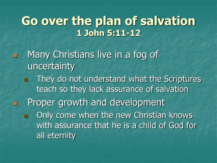 Go over the plan of salvation