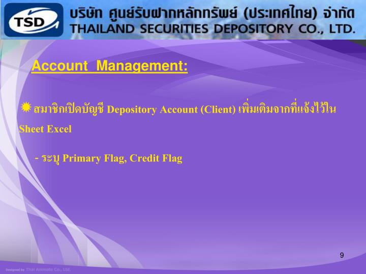 Account  Management: