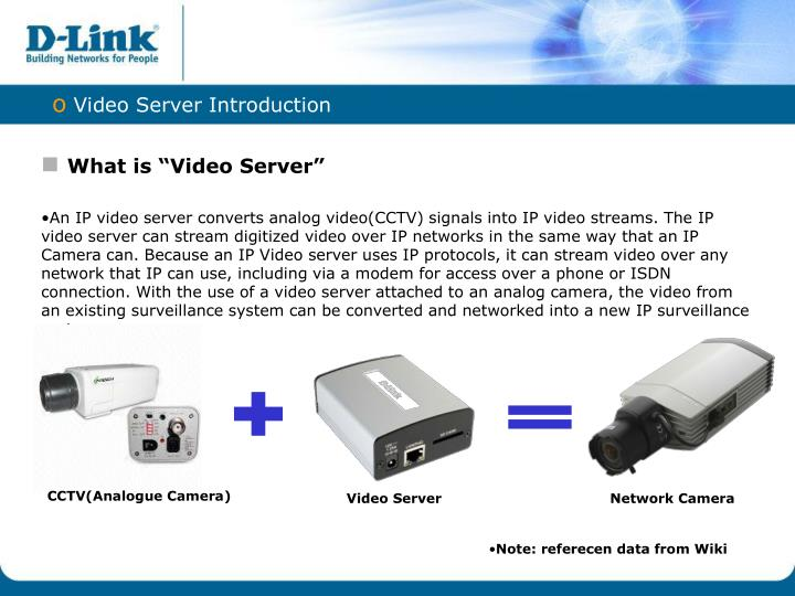 Video Server Introduction