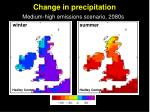 change in precipitation