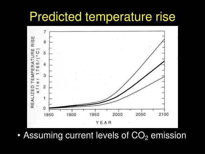 Predicted temperature rise