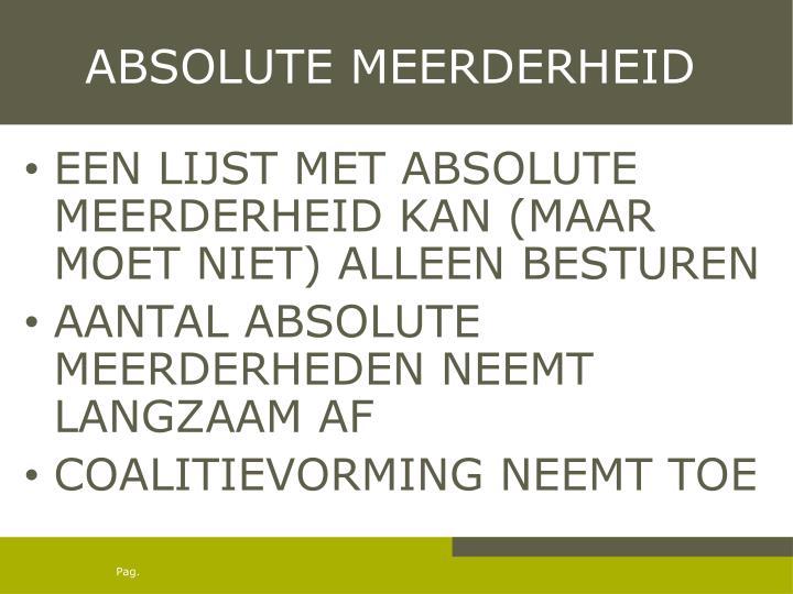 ABSOLUTE MEERDERHEID