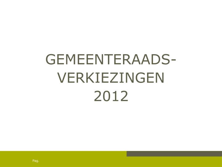 GEMEENTERAADS-