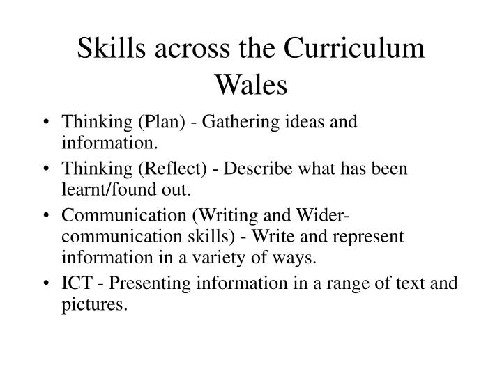Skills across the Curriculum
