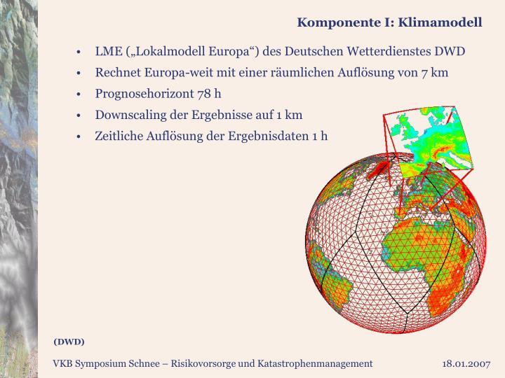 Komponente I: Klimamodell