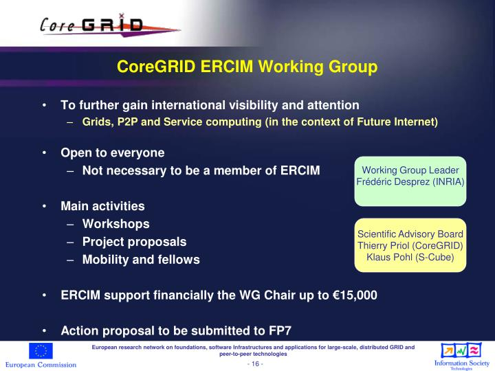 CoreGRID ERCIM Working Group