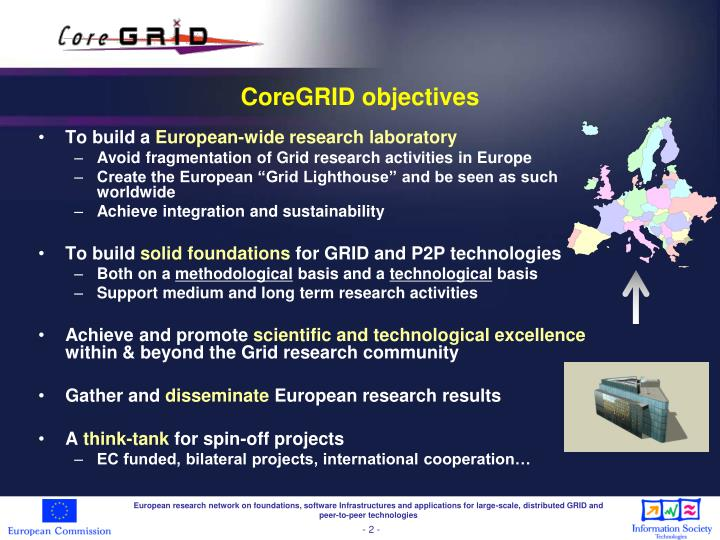 Coregrid objectives