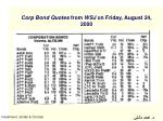 corp bond quotes from wsj on friday august 24 2000