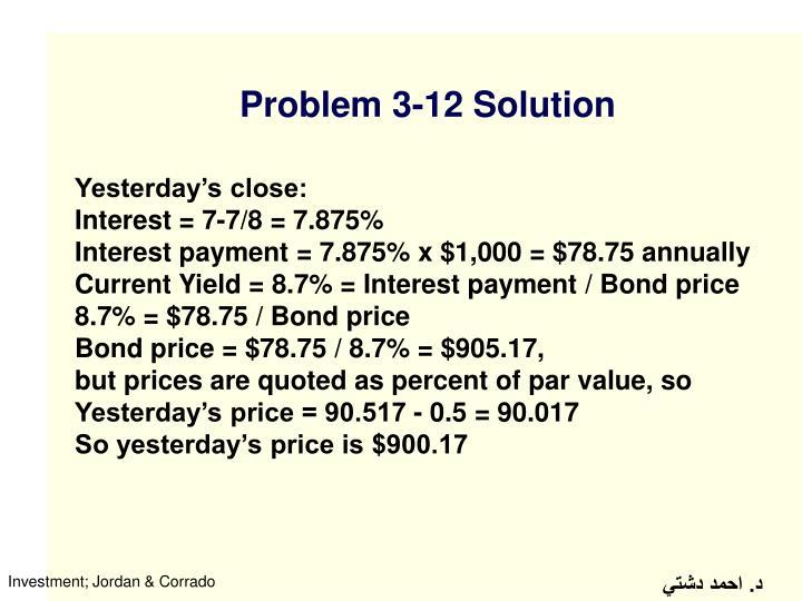 Problem 3-12 Solution